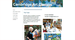 Preview of cambridgeartclasses.co.uk
