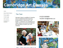 Tablet Preview of cambridgeartclasses.co.uk